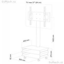 """4World TV stolek, pojízdný stojan pro LCD, LED 26"""""""