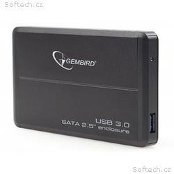 """Gembird externí USB 3.0 case, 2,5"""" SATA, černý hli"""