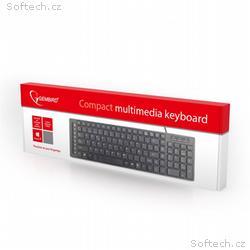 """Gembird multimediální klávesnice USB, """"chocolate"""""""