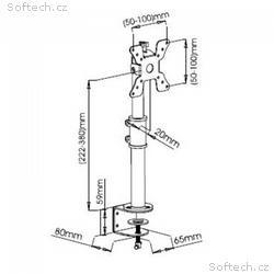 """Techly stolní držák pro LED, LCD 13""""-30"""" 15 kg, na"""