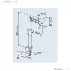 """Techly stolní držák pro LED, LCD 13""""-27"""" 8kg nasta"""
