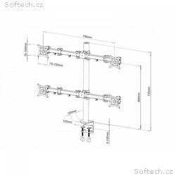 """Techly čtyřramenný stolní držák pro LED, LCD 13""""-2"""