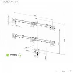 """Techly stolní držák pro šest monitorů LED, LCD 13"""""""