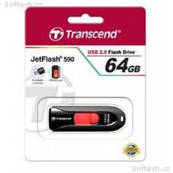 Transcend Jetflash 590 flashdisk 64GB USB 2.0, výs