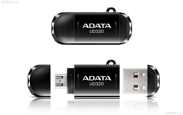 Výsledek obrázku pro 16GB ADATA UC320 USB 2.0 OTG černá, AUD320-16G-RBK