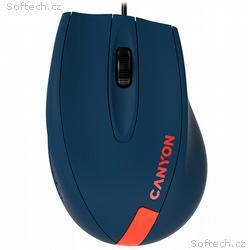CANYON myš drátová M-11, 3 tlacítka, 1000dpi, pogu