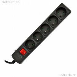 Akyga Prodlužovací kabel s 5 zásuvkami 3m 5outlets