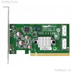 Tyan NVMe adpater, PCIe x16, 2x OCuLink 8x, M2093