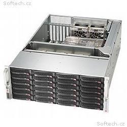 "SUPERMICRO 4U chassis 24x 3,5"" HS SAS, SATA (6x SF"