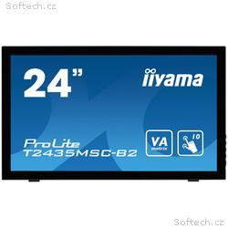 "24"" LCD iiyama T2435MSC-B2 - 6ms, 250cd, m2, DVI,"