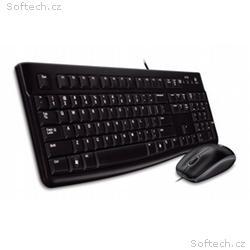 set Logitech Desktop MK120, drátový, USB, CZ