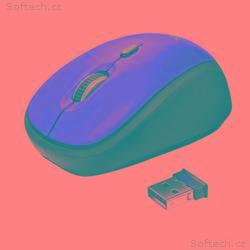 myš TRUST Yvi Wireless Mouse - red