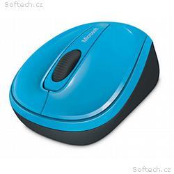 Microsoft Wireless Mobile Mouse 3500, azurově modr