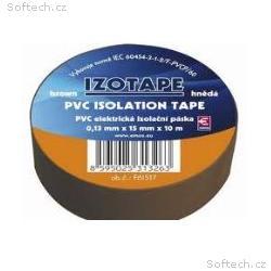 PremiumCord Izolační páska PVC 15, 10 hnědá