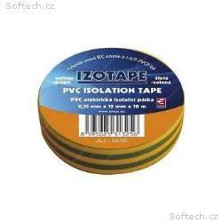 PremiumCord Izolační páska PVC 15, 10 zelená, žlut
