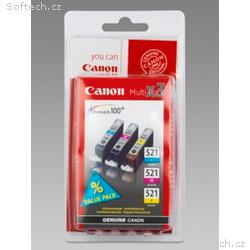 Canon pack CLI-521 C, M, Y