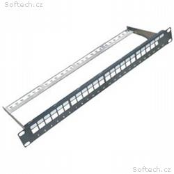 "DATACOM 19"" Neosazený Patch panel 24 port"