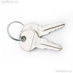 Klíč pro nástěnné a stojan. racky, 2ks na kroužku