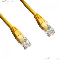 DATACOM patch cord UTP cat5e 10M žlutý