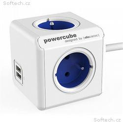 Zásuvka prodluž. PowerCube EXTENDED USB, Blue, 4 r