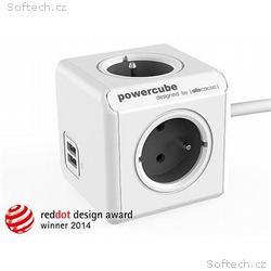 Zásuvka prodluž. PowerCube EXTENDED USB, Grey, 4 r