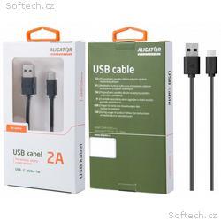 Datový kabel, USB-C, 2A, 1m, prodloužený konektor