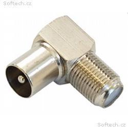 Spojka F (zdířka), IEC (kolík) - úhlová