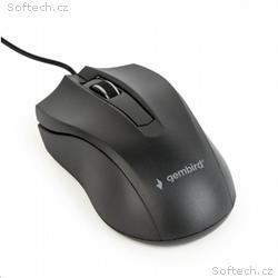 GEMBIRD myš MUS-3B-01, drátová, optická, 1000 dpi,