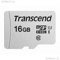 TRANSCEND MicroSDHC karta 16GB 300S, UHS-I U1 + ad