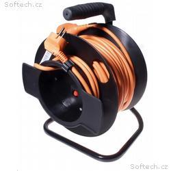 PREMIUMCORD Prodlužovací přívod 230V buben 25m, če