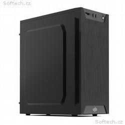 SilentiumPC skříň MidT Armis AR1 Pure Black, čtečk