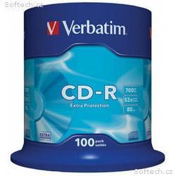 VERBATIM CD-R(100-Pack)Spindle, EP, DL, 52x, 700MB