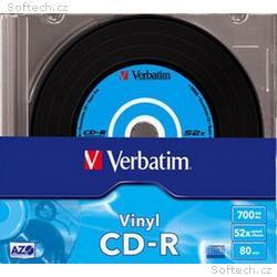 VERBATIM CD-R(10-Pack)Slim, Vinyl, DLP, 52x, 700MB