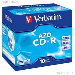 VERBATIM CD-R(10-Pack)Jewel, Crystal, DLP, 52x, 70