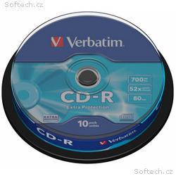 VERBATIM CD-R(10-Pack)Spindle, EP, DL, 52x, 700MB