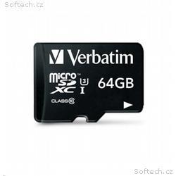 VERBATIM Pro U3 Micro SecureDigital SDXC 64GB + SD