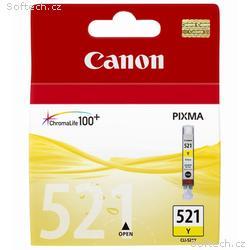 Canon inkoustová náplň CLI-521Y, žlutá