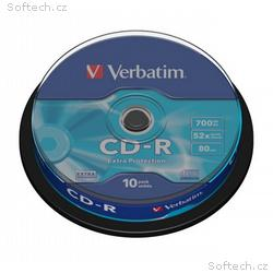 VERBATIM CD-R80 700MB, 52x, Extra Protection, 10pa