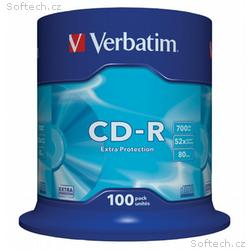 VERBATIM CD-R80 700MB, 52x, Extra Protection, 100p