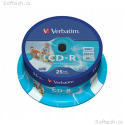 VERBATIM CD-R80 700MB, 52x, printable, 25pack, spi