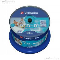 VERBATIM CD-R80 700MB, 52x, Inkjet Printable Non I