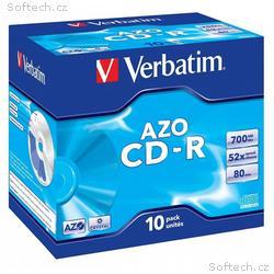 VERBATIM CD-R80 700MB DLP, 52x, 80min, jewel, 10pa