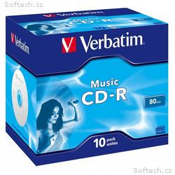 VERBATIM CD-R80 700MB AUDIO, 16x, 80min, jewel, 10