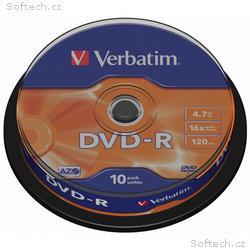 VERBATIM DVD-R 4,7GB, 16x, 10pack, spindle