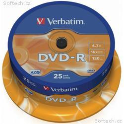 VERBATIM DVD-R 4,7GB, 16x, 25pack, spindle