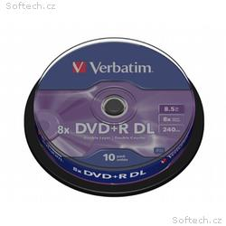 VERBATIM DVD+R DoubleLayer 8,5GB, 8x, 10pack, spin