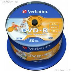 VERBATIM DVD-R 4,7GB, 16x, Injekt printable Non ID