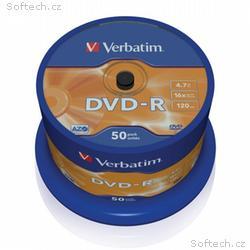 VERBATIM DVD-R 4,7GB, 16x, 50pack, spindle