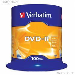 VERBATIM DVD-R 4,7GB, 16x, 100pack, spindle
