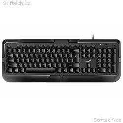 GENIUS KB-118, Drátová, USB, černá, CZ+SK layout